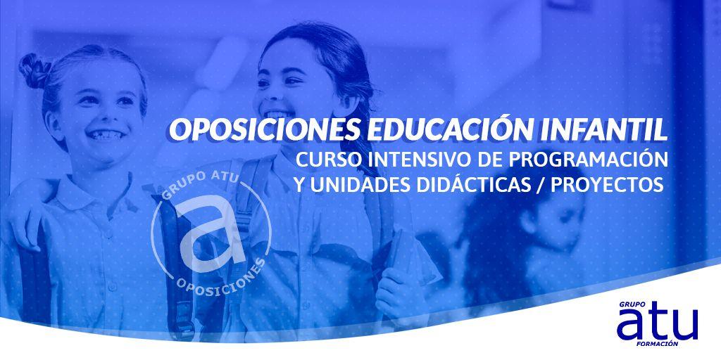 Curso intensivo programación y unidades didácticas Educación Infantil